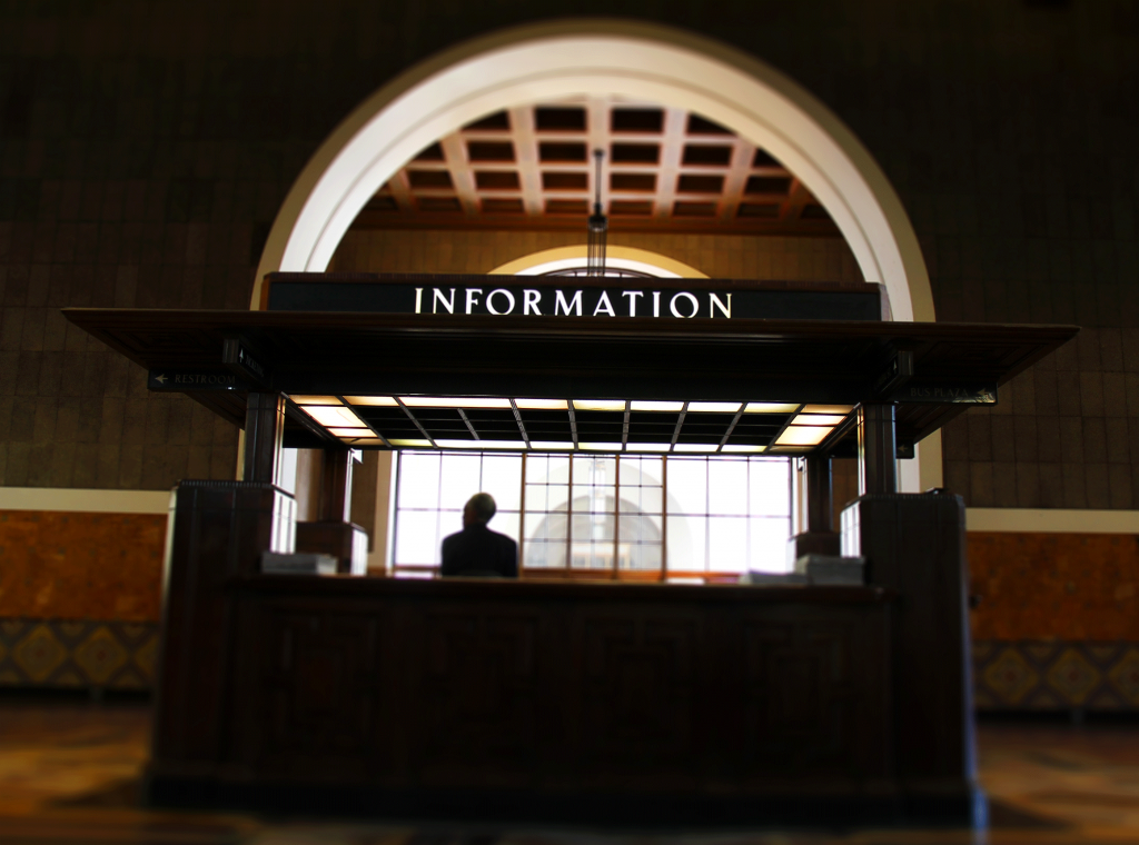 Information Booth inside Union Station